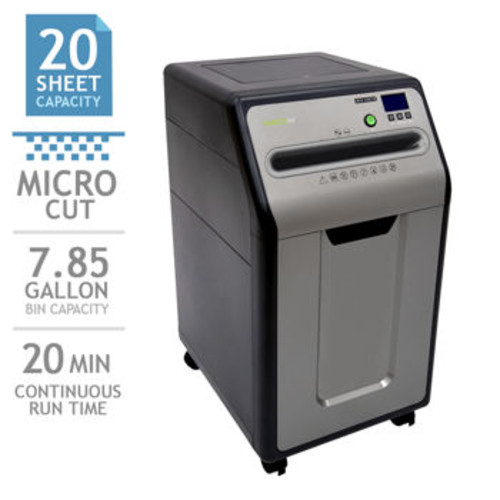 GoECOlife Platinum Series 20-Sheet Under-Desk Micro-Cut Paper Shredder