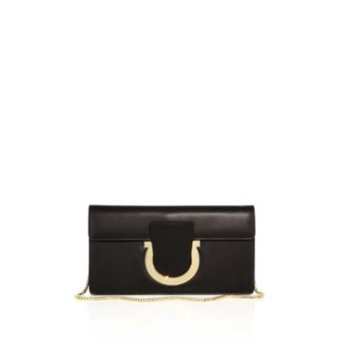 Thalia Leather Chain Clutch