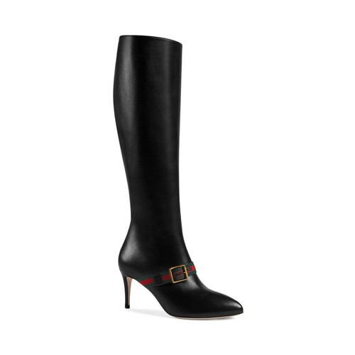 GUCCI Sylvie Buckle Tall Boots