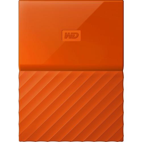 1TB My Passport USB 3.0 Secure Portable Hard Drive (Orange)