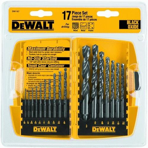 DeWalt 17-Piece Black Oxide Drill Bit Set - DW1167