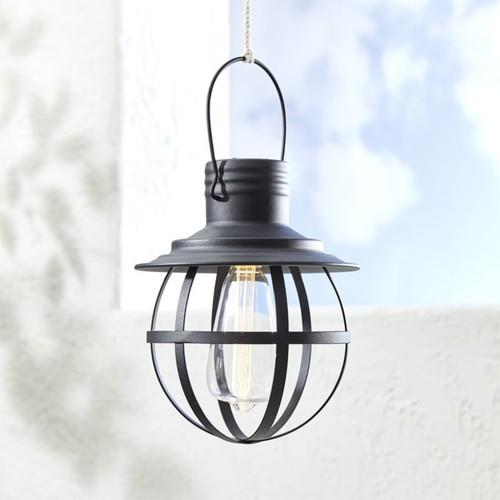 Black Caged Geometric Lantern