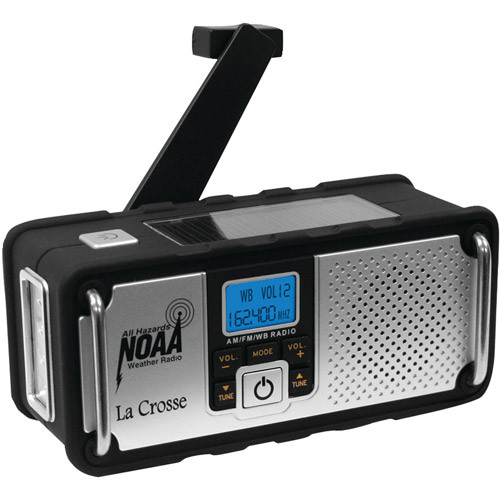 La Crosse Technology 810-106 NOAA/AM/FM Severe Weather Alert Radio with Solar