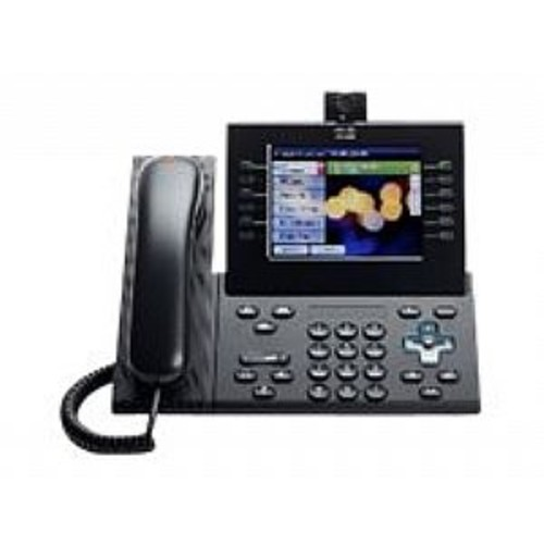 Cisco Unified IP Phone 9971 Slimline - IP video phone - IEEE 802.11b/g/a (Wi-Fi) - SIP - multiline - charcoal (CP-9971-CL-CAM-K9=)