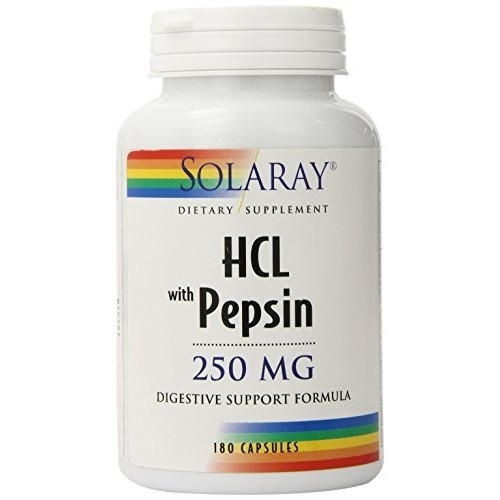 Solaray - HCl with Pepsin - 250 mg - 180 capsules