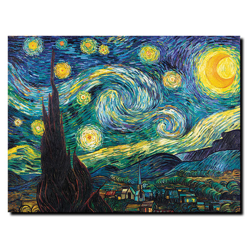 Trademark Global Vincent van Gogh 'Starry Night' Canvas Art [Overall Dimensions : 14x19]