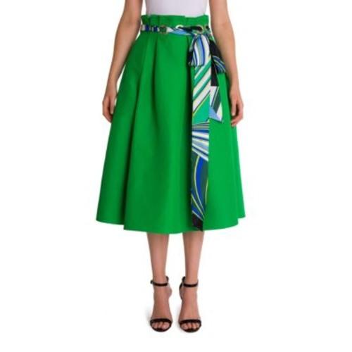 EMILIO PUCCI Grommet Scarf Skirt