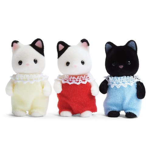 Calico Critters Tuxedo Cat Triplets [Standard Packaging]