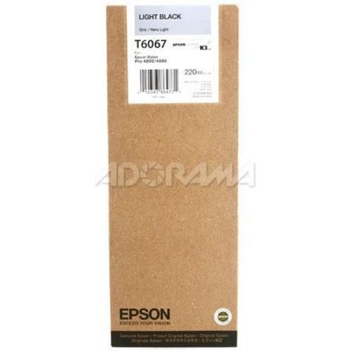 Epson T606700 UltraChrome 220ml Printer Ink, for Stylus Pro 4880, Light Black T606700