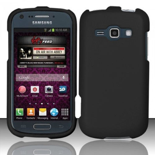Insten - Rubberized Hard Snap-in Case Cover Compatible with Samsung Galaxy Prevail 2 Boost Mobile/Ring SPH-M840 (Virgin Mobile) - Black