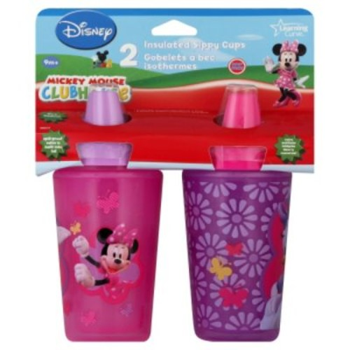 The First Years Disney Minnie Mouse magical color changing insulated sippy cup 2 pack