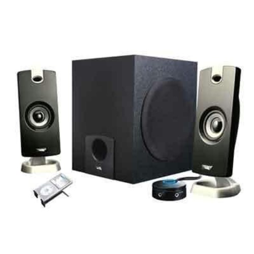 Cyber Acoustics 2.1 Subwoofer Speaker System with 18W of Power  Great for Music, Movies, Gaming, and Multimedia Computer Laptops (CA-3090)