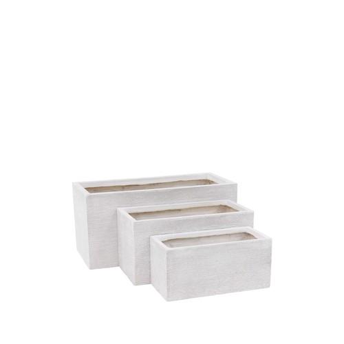 Gray Clay Planter - Set of 3
