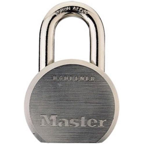 Master Lock Padlock, Solid Steel Lock, 2-1/2 in. Wide, 930DPF [1-1/8-Inch Shackle]