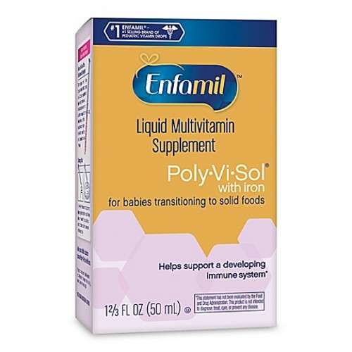 Enfamil Poly-vi-sol 50 ml Multivitamin Drops with Iron
