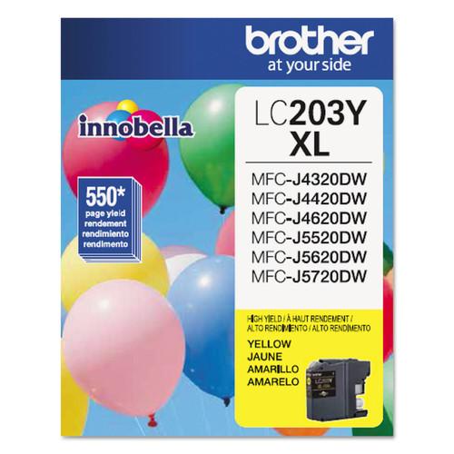Brother BRTLC203Y LC203Y Innobella High-Yield Ink, Yellow