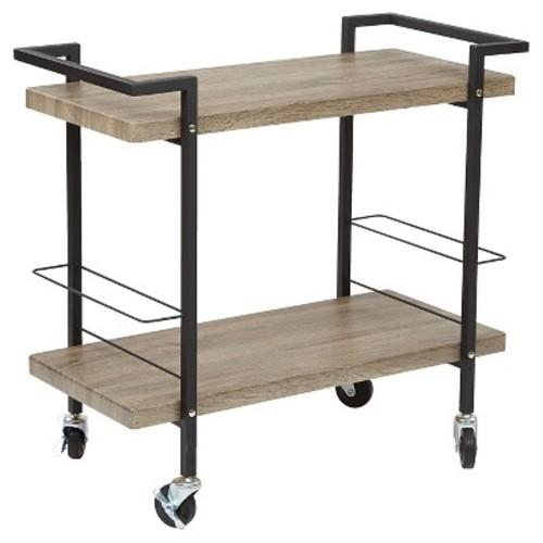 OSP Designs Maxwell Serving Cart Ash Veneer Finish - Office Star