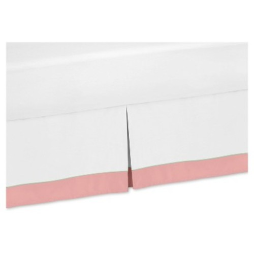 Coral & White Bed Skirt - Sweet Jojo Designs