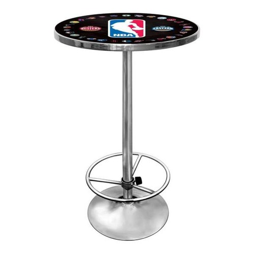 Trademark NBA Logo with All Teams Chrome Pub/Bar Table