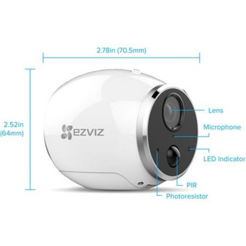 EZVIZ Mini Trooper 720p Wire-Free Indoor/Outdoor Add-on Camera