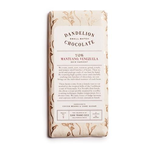 Dandelion Chocolate 70% Mantuano Bar