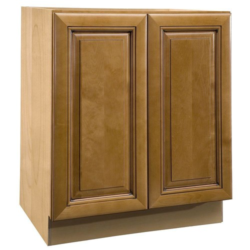 Home Decorators Collection Lewiston Assembled 36x34.5x21 in. Double Door Base Vanity Cabinet in Toffee Glaze