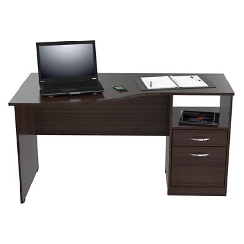 Inval America Curved Top Computer Wood Desk