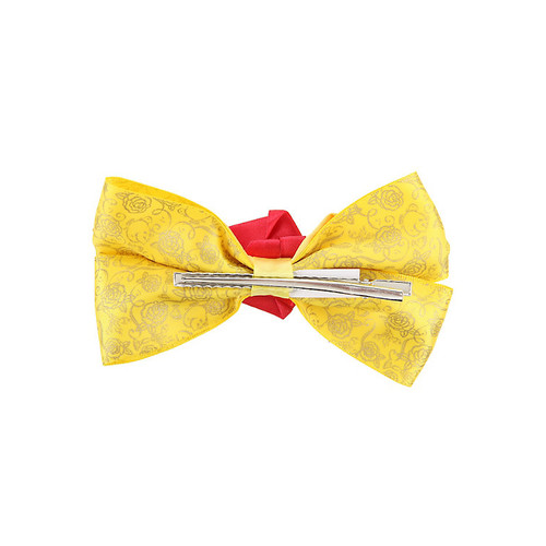 Disney Beauty And The Beast Belle Dress Cosplay Hair Bow