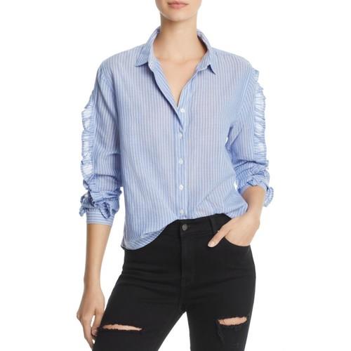 RAILS Lizzie Ruffled Striped Shirt