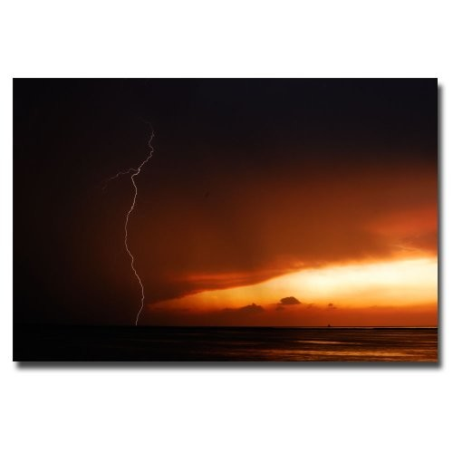 Lightning Sunset III by Kurt Shaffer, 16x24-Inch Canvas Wall Art [16 by 24-Inch]