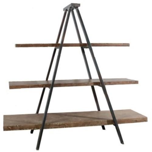 A&B Home A-Frame 73'' Accent Shelves Bookcase