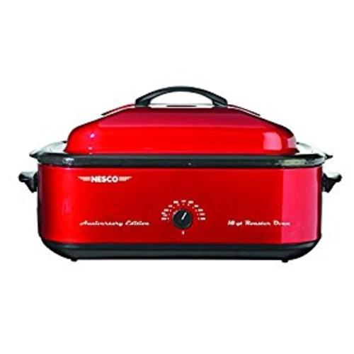 Nesco 4818-22 Anniversary Edition Roaster Oven, 18-Quart, Red [Red, 18 Qt, Anniversary Edition]