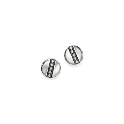 Sterling Silver Glamazon Stardust Station Stud Earrings with Diamonds
