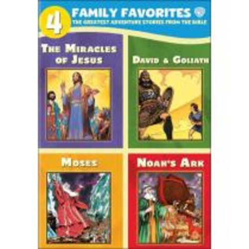 4 Family Favorites: The Greatest Adventure Stories from the Bible [4 Discs] [DVD]