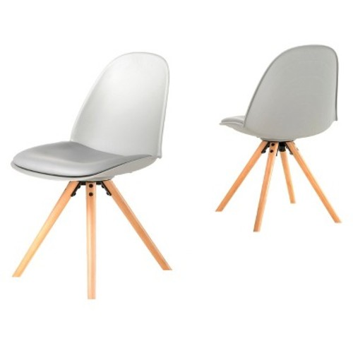 Achilles Dining Chair - Gray (Set of 2) - Christopher Knight Home