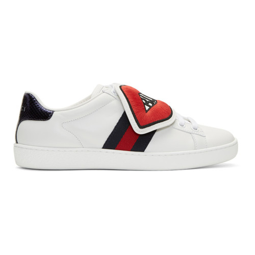 GUCCI White 'Blind For Love' Ace Sneakers