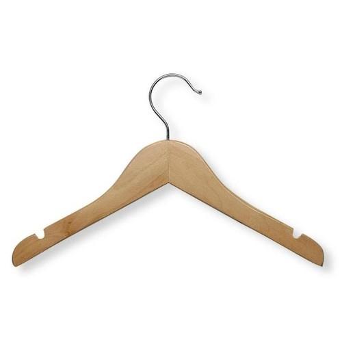 Honey-Can-Do Maple Finish Kid's Basic Shirt Hanger (10-Pack)