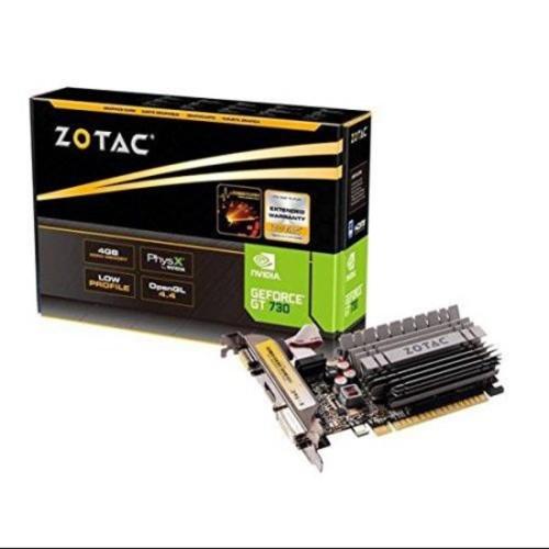 Zotac Zt-71113-20l Geforce Gt 730 Graphic Card - 902 Mhz Core - 2 Gb Ddr3 Sdram - Pci Express 2.0 X16 - 1600 Mhz Memory Clock - 64 Bit Bus Width - 2560 X 1600 - Passive Cooler - Directx 12, (160410)