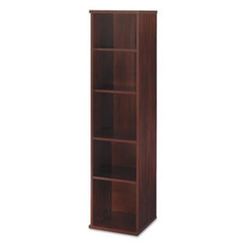 BUSHINDUST Series C Collection 18w 5 Shelf Bookcase, Hansen Cherry BOOKCASES,WOOD LAMINATE