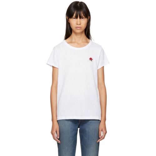 RAG & BONE White Rose T-Shirt