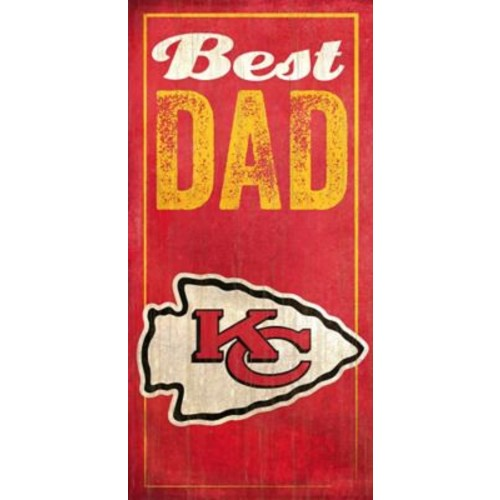 Fan Creations NFL Best Dad Graphic Art Plaque; Kansas City Chiefs