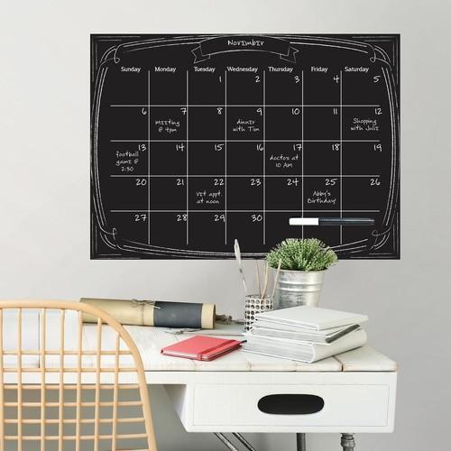 WallPOPs Black Pen & Ink Monthly Calendar Wall Decal