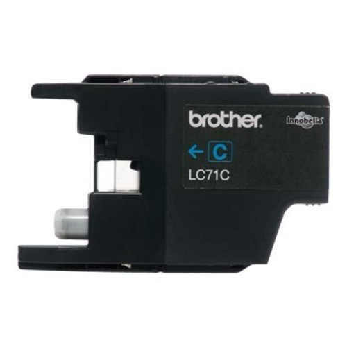 Brother LC71C (LC-71C) Ink, 300 Page-Yield, Cyan