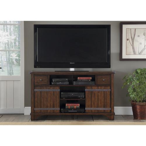 Liberty TV Stands & Entertainment Centers Russet Brown Darn Door TV Conosle
