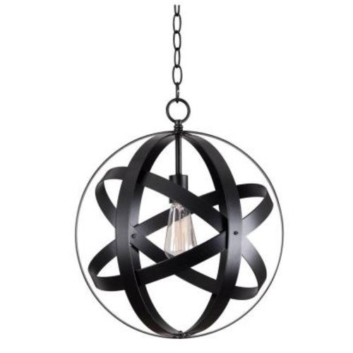 Kenroy Home Global 1-Light Black Pendant
