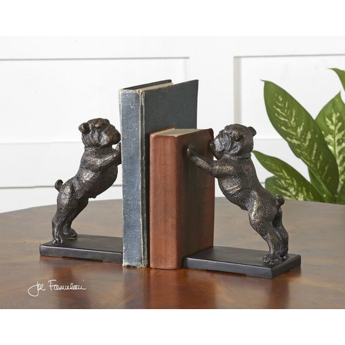 Uttermost Cast Iron Bulldog Bookends