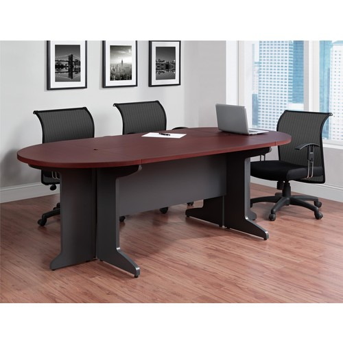Dorel Pursuit Cherry/Gray Small Conference Table