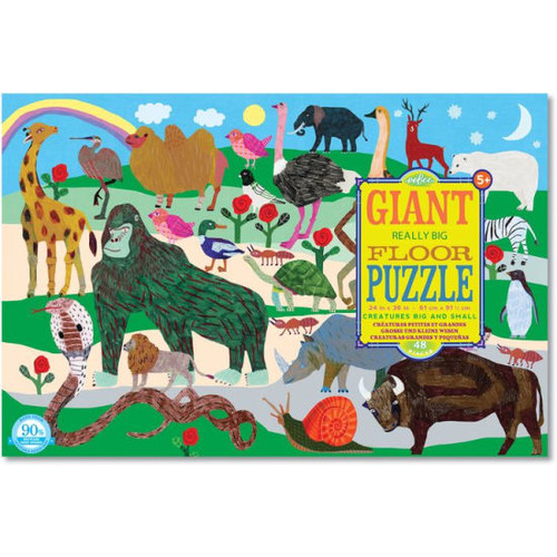 CREATURES BIG AND SMALL 48 PC FLOOR PUZZLE