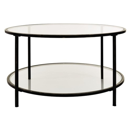 Home Decorators Collection Bella Glass Antique Bronze Coffee Table