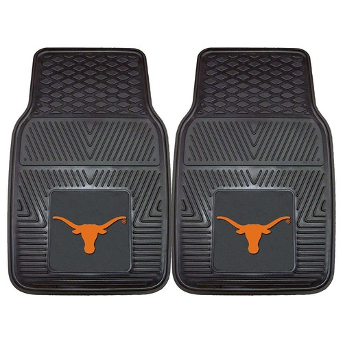 Fanmats Texas Longhorns Heavy Duty Vinyl Car Mats [Texas Longhorns]